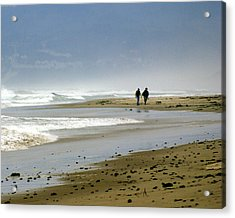Lonly Beach Acrylic Print by Marty Koch