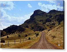 Lonly Road Acrylic Print by Marty Koch