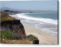 Looking Back At Half Moon Bay From The North Acrylic Print by Carolyn Donnell
