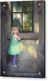 Looking Through Acrylic Print by Anna Rose Bain