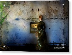 Looking Through The Past To The Future Acrylic Print by Carrie Jackson