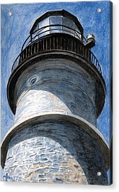 Looking Up Portland Head Light Acrylic Print by Dominic White