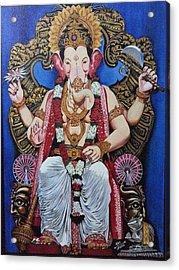 Lord Ganesha. Lalbaug Raja Acrylic Print by Nikhil Dasgaonkar