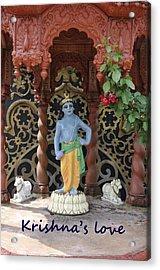 Lord Krishna Acrylic Print by Vijay Sharon Govender