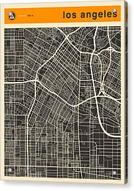 Los Angeles Map Acrylic Print by Jazzberry Blue
