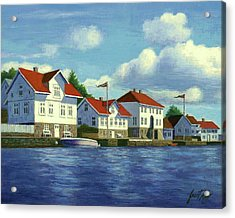 Loshavn Village Norway Acrylic Print by Janet King
