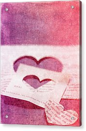 Lost Hearts Acrylic Print by Rebecca Cozart