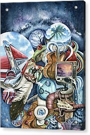 Lost In Space Acrylic Print by James Stanley
