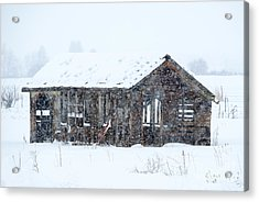 Lost In Winter Acrylic Print by Mike Dawson