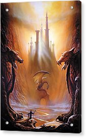 Lost Valley Acrylic Print by The Dragon Chronicles - Garry Wa