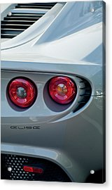Lotus Elise Taillight Acrylic Print by Jill Reger