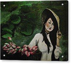 Lotus Acrylic Print by Kim Selig