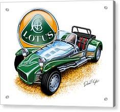 Lotus Super 7  Acrylic Print by David Kyte