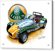 Lotus Super Seven Sports Car Acrylic Print by David Kyte
