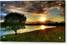 Lough Erne Sunset Acrylic Print by Kim Shatwell-Irishphotographer