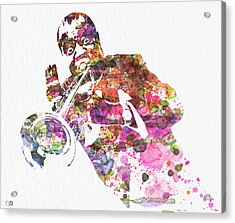 Louis Armstrong 2 Acrylic Print by Naxart Studio