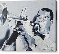 Louis Armstrong Acrylic Print by Joseph Palotas