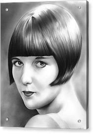 Louise Brooks Acrylic Print by Greg Joens