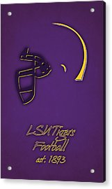 Louisiana State Tigers Helmet Acrylic Print by Joe Hamilton