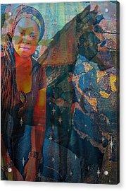 Loulou And Me Acrylic Print by Fania Simon