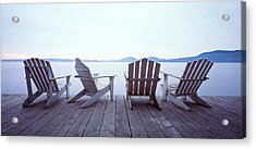 Lounge Chairs Moosehead Lake Me Acrylic Print by Panoramic Images