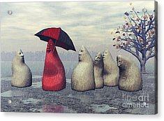 Lousy Weather Acrylic Print by Jutta Maria Pusl