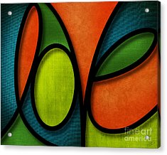 Love - Abstract Acrylic Print by Shevon Johnson