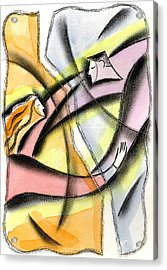 Love And Liberty Acrylic Print by Leon Zernitsky