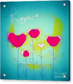 Love Art - 144a Acrylic Print by Variance Collections
