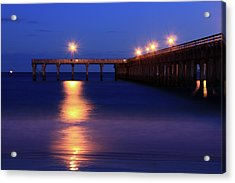 Love Blue Acrylic Print by Mark Ashkenazi