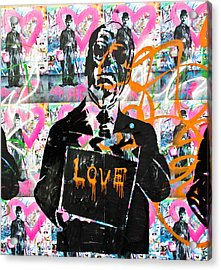 Love Chaplin Acrylic Print by Darren Scicluna