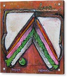 Love For Ham Sandwich Acrylic Print by Laurie Maves ART