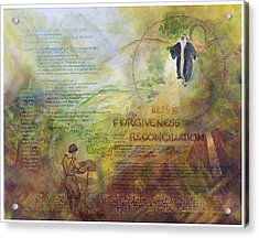Love Forgiveness Reconciliation Acrylic Print by Judy Dodds