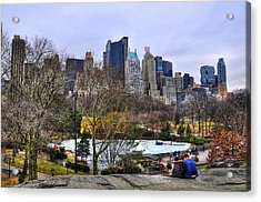 Love In Central Park Too Acrylic Print by Randy Aveille
