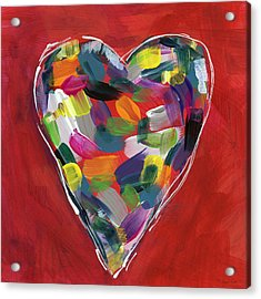 Love Is Colorful - Art By Linda Woods Acrylic Print by Linda Woods