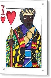 Love King Acrylic Print by Aliya Michelle