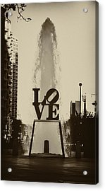 Love Love Love Acrylic Print by Bill Cannon