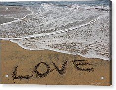 Love On The Beach Acrylic Print by Heidi Smith