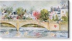 Love Over Asbury Acrylic Print by MG Ferguson