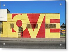 Love Store Front Acrylic Print by David Kyte