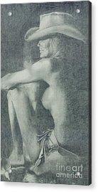 Love Those Cowgirls Acrylic Print by Frances Marino