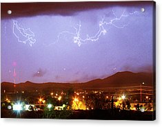 Loveland Colorado Front Range Foothills  Lightning Thunderstorm Acrylic Print by James BO  Insogna