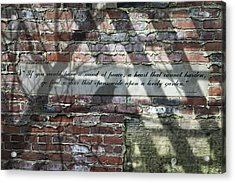 Lovely Garden Wall Acrylic Print by Tom Mc Nemar