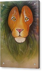 Lovelylion Acrylic Print by Anne Sue