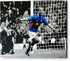 Lovenkrands Scottish Cup Final Acrylic Print by Scott Strachan