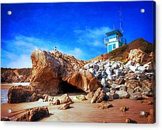 Low Tide At Leo Carillo Acrylic Print by Lynn Bauer