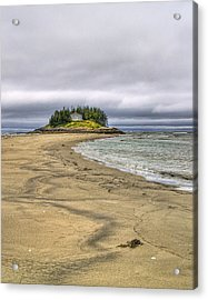 Low Tide In Popham Beach Maine Acrylic Print by Tammy Wetzel