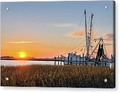 Lowcountry Sunset Acrylic Print by Drew Castelhano