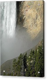 Lower Falls Closeup Acrylic Print by Bruce Gourley