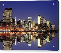 Lower Manhattan Skyline Acrylic Print by Sean Pavone